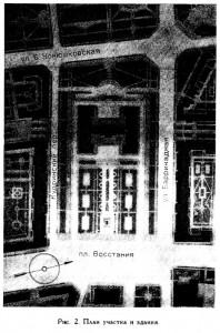 Рис. 2 План участка и здания
